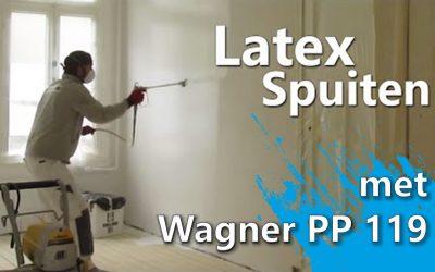 Latex spuiten met airless spray: Timelapse