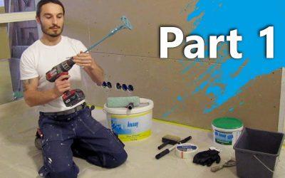 Hoe stuc je een wand / muur – 1 – Primeren