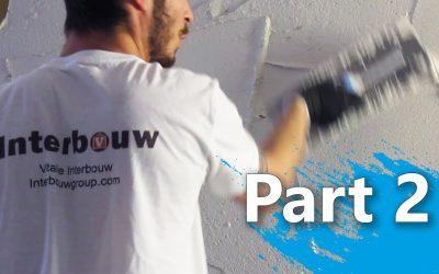 Hoe stuct je een wand / muur – 2 – Opzetten en Afreien