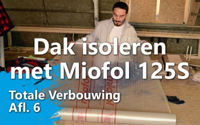 Dak isoleren met dampremmende folie Miofol 125 S