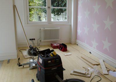 Minervalaan bamboe vloer leggen project - Vitalie aan het werk foto - 1