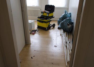 Minervalaan vloer leggen project - Vitalie aan het werk foto - 3