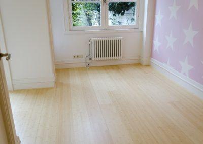 Minervalaan bamboe vloer leggen project - Na foto - 2