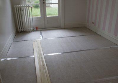 Minervalaan vloer leggen project - Voor foto - 1