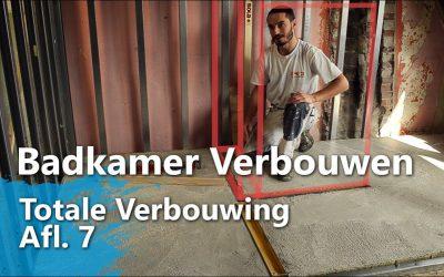 Badkamer Verbouwen – Wanden zetten, betonvloer storten
