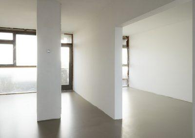 Gestuct appartementen met polyurethaan vloer